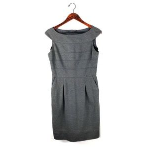 Lauren Ralph Lauren dress sheath gray sleeveless